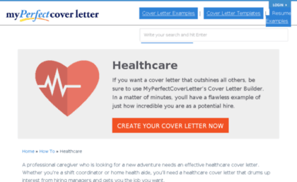 Healthcaremyperfectcoverletter Website Leading Healthcare