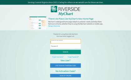Healthelink Riversideonline Com Website Riverside Mychart Application Error Page