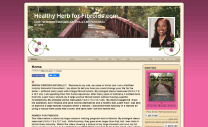 Healthyherbforfibroids com website  Healthy Herb for