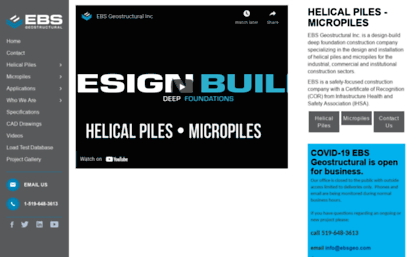 Helical-piers-anchors com website  Home - EBS Geostructural