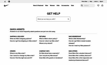 Help En Us Swoosh Com Website Nike Customer Service Get Help With Returns Ordering Products