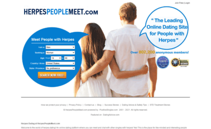 Dating site for someone with herpes