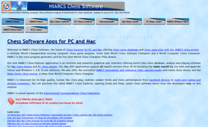 Hiarcs com website  HIARCS Chess Software: Download PC & Mac