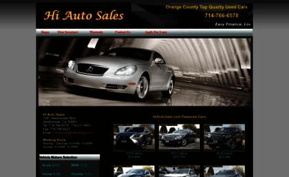 Hi Auto Sales >> Hiautosale Com Website Lexus Mercedes Benz Acura Bmw At