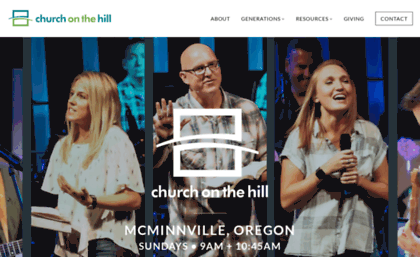 Hillchurch com website  Church on the Hill | HELLO