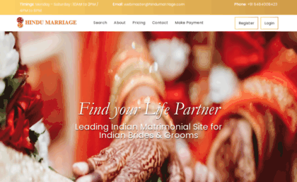 Hindumarriage com website  Www hindumarriage com | Find your Life