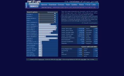 Hol abime net website  Hall Of Light - The database of Amiga