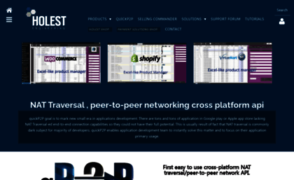Holest com website  NAT Traversal c++ ,  NET , java, objective C API
