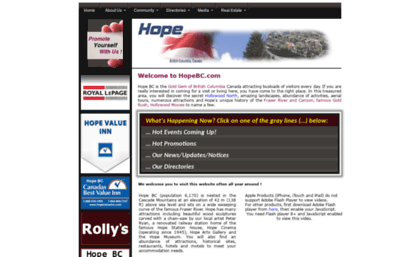 Hopebc com website  Hope BC Canada: District and Community Portal