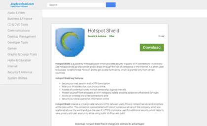 Hotspot-shield joydownload com website  Hotspot shield 7 2 1