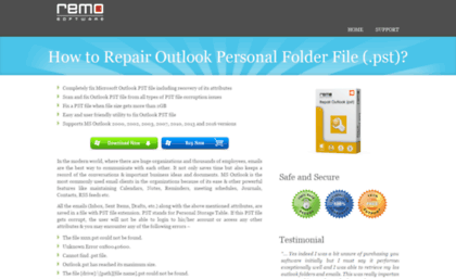 Howtofixpstfiles com website  How to Fix PST Files of MS