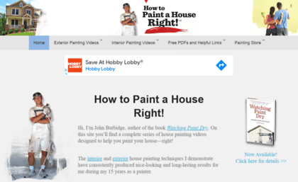 website how to paint a house