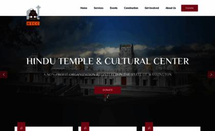 Htccwa org website  Hindu Temple & Cultural Center, Bothell, WA