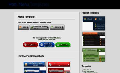 html menu com website html menu template