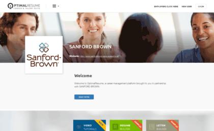 optimal resume sanford brown