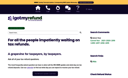 Igotmyrefund Com Website Where S My Refund A Live Tax Refund Forum For Taxpayers This website has a google pagerank of 3 out of 10. websites milonic com