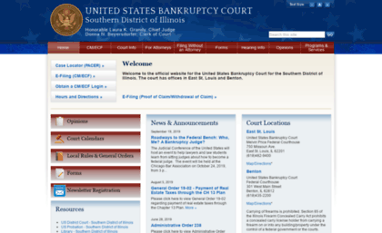 Ilsb Uscourts Gov Website Southern District Of Illinois United