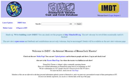 Imdtfriendsofdtorg Website Dramatech Theatre Cast And Crew