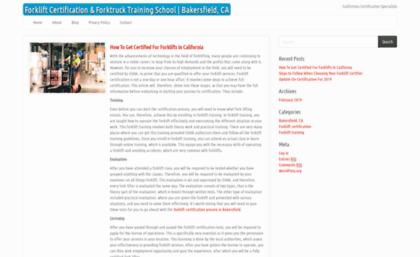 Indianmakeupdiva Com Website Forklift Certification