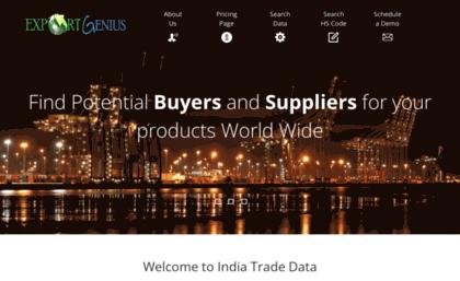 Indiatradedata com website  India Export Data   India Import Data