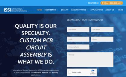 Internationalsensor com website  PCBs & Custom PCB Board Design