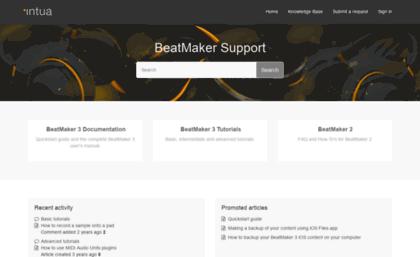 Intua zendesk com website  BeatMaker Support