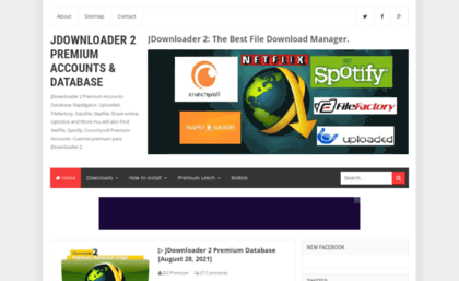Jdownloader2-premium blogspot sg website  JDownloader 2