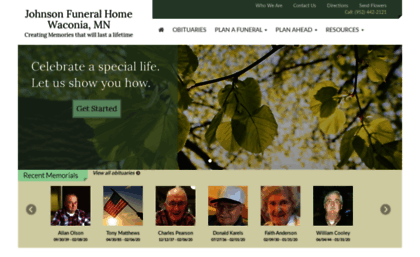 Johnsonfh Com Website Johnson Funeral Home Waconia Mn Waconia