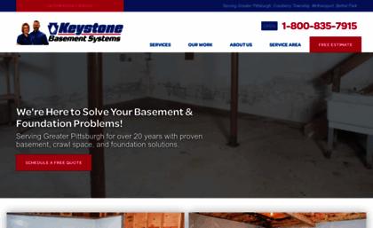 Keystonebasementsystemscom Website Basement Waterproofing - Basement waterproofing pittsburgh