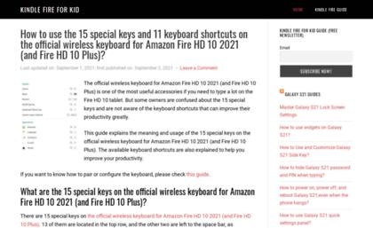Kindlefireforkid com website  Kindle Fire For Kid -