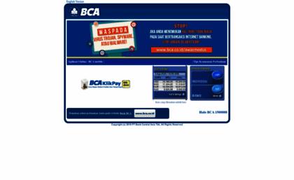 Klikbca website internet banking klikbca klikbca stopboris Choice Image