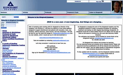 Klinghardtacademy com website  Klinghardt Academy - Welcome