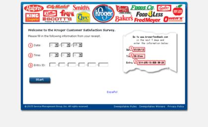 Krogerfeedback Com Website Kroger Customer Satisfaction Survey