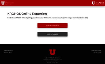 Kronos utah edu website  KRONOS Login