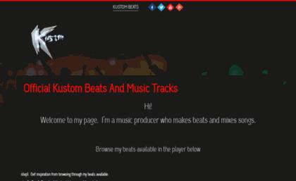 Kustombeats com website  Producer Kustom Beats | Download