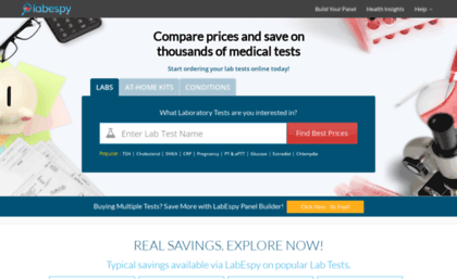 Labespy com website  Search for Cheap Medical Lab Tests and