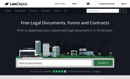 Lawdepotcouk Website Free Legal Documents Forms Contracts