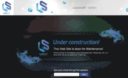 Lead-surf com website  Lead-Surf