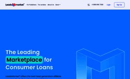 Leadsmarket com website  Pay Per Lead Affiliate Program
