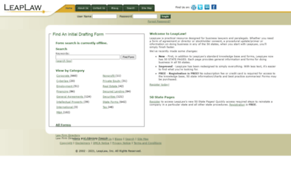 Leaplawcom Website Legal Forms Contracts Law Forms Documents - Legal documents websites