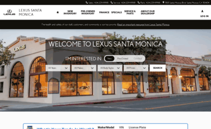 Lexus Santa Monica Service >> Lexussantamonica Com Website Lexus Santa Monica Lexus