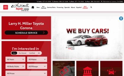 Larry H Miller Toyota Corona >> Lhmtoyotacorona Com Website Larry H Miller Toyota Corona