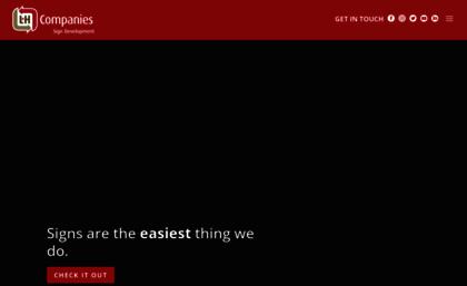 Lhsigns com website  L&H Sign Company | Signage Design & Fabrication