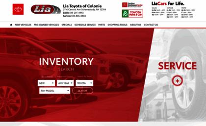 Lia Toyota Colonie >> Liatoyotaofcolonie Calls Net Website Lia Toyota Colonie