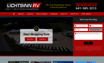 Lichtsinn com website  Lichtsinn RV | Winnebago RV Sales