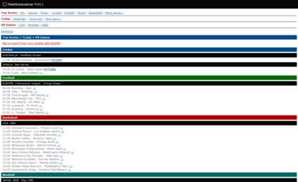Livescores Com Au Website Live Scores Afl Scores Nrl Super Rugby