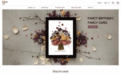 Lotusartstudio Co Uk Website Handmade Cards For Birthday Wedding