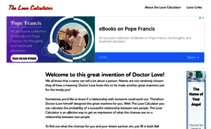 Love calculator thread gamereplays. Org.