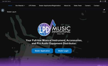 Lpdmusic com website  LPD Music International
