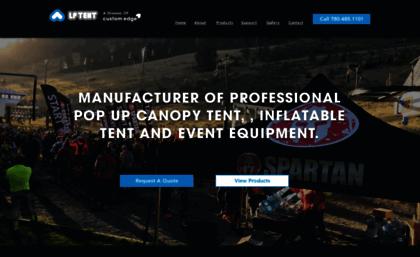 lptent.ca & Lptent.ca website. LP Tent | Custom Pop Up Canopy Tents and Event ...